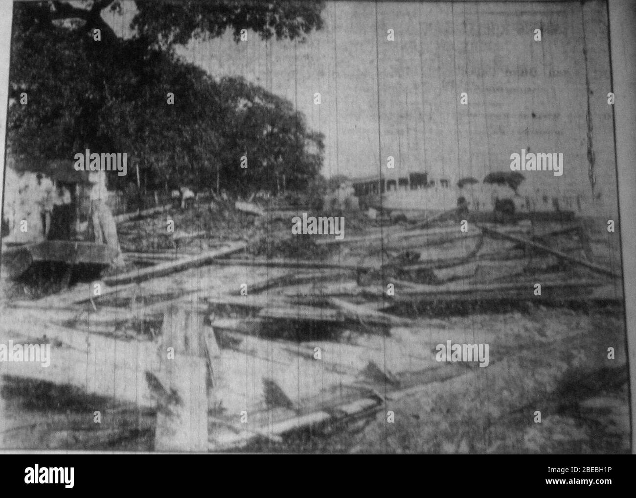 Aftermath Of The September 1909 Hurricane Biloxi Beach Near
