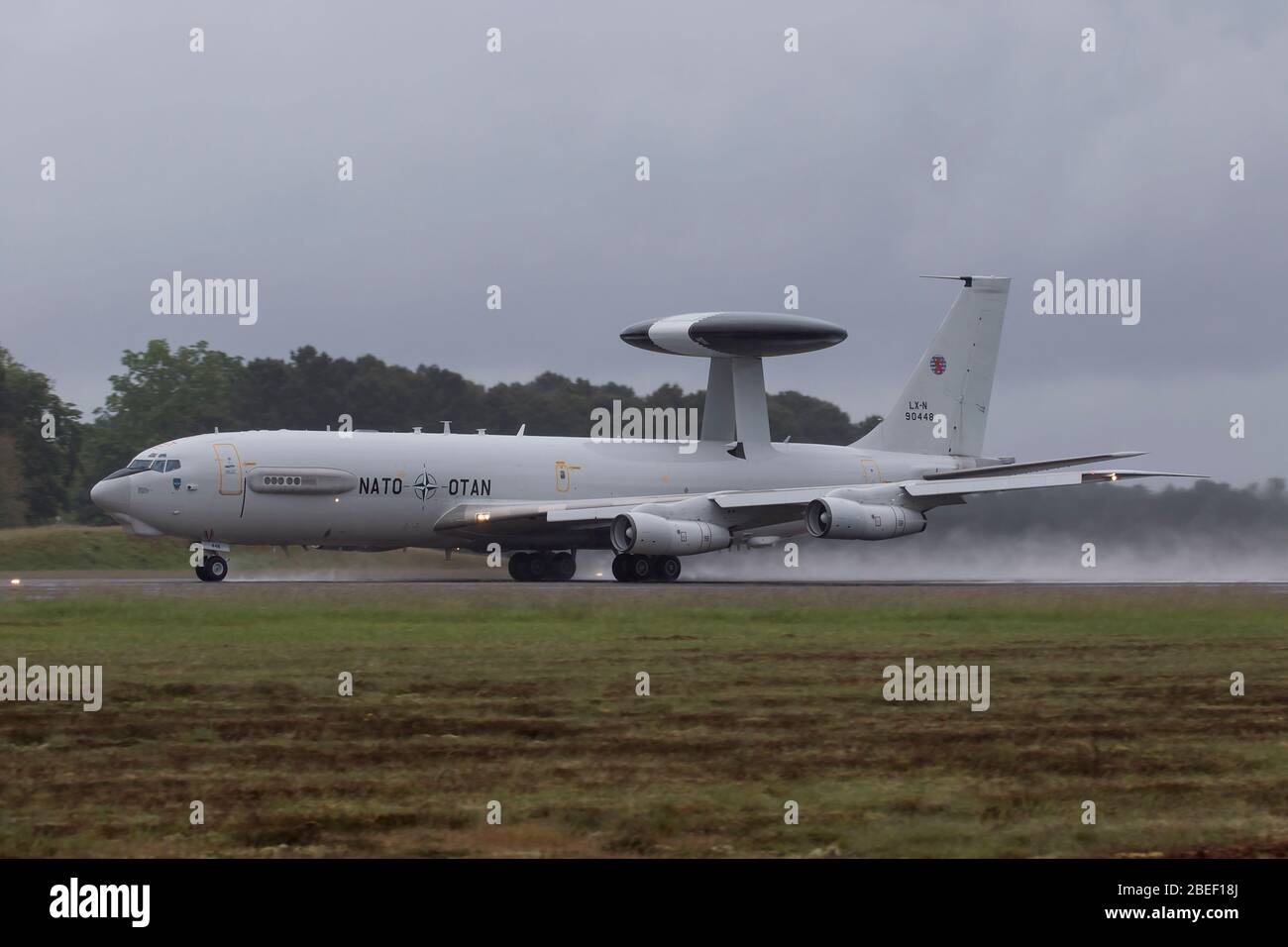 NATO Boeing E-3A Sentry at NATO Tiger Meet 2019 at French Air Force Mont de Marsan BA118 base Stock Photo