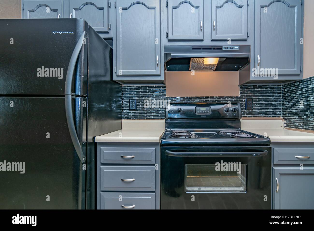 Kitchen In Modern Middle Class House In Midwest America Stock Photo Alamy