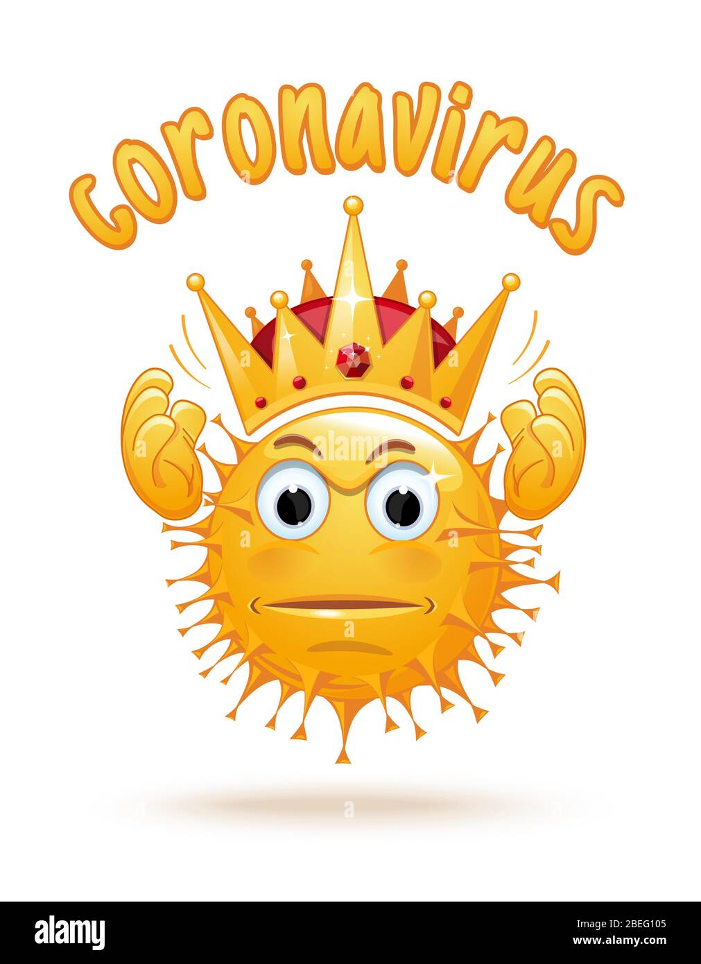 Angry Coronavirus Holds A Crown Over His Head Stock Vector Image Art Alamy The anatomy of the crown varies between different organisms. alamy