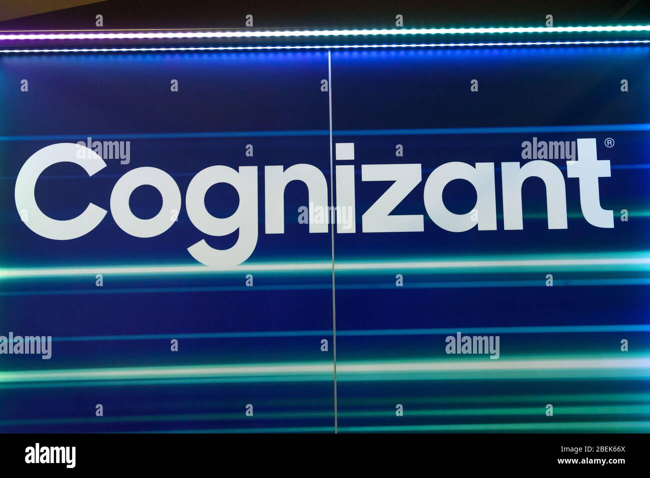 RIGA, LATVIA. 10th October 2019. Logo of Cognizant company. Cognizant is an American multinational corporation that provides IT services, including di Stock Photo