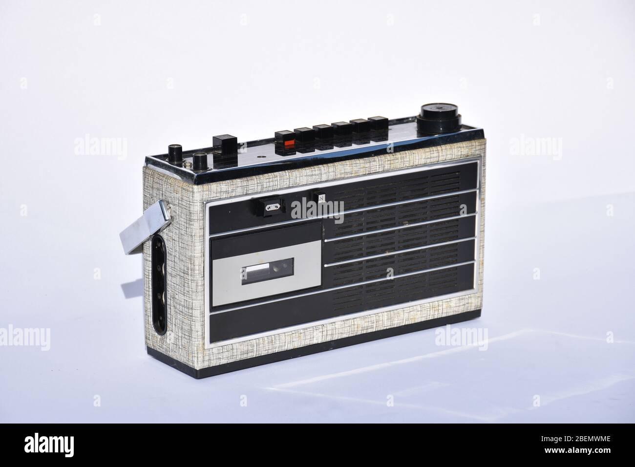 Hornyphon Caballero, Hornyphon, Caballero, Radiorekorder, Kofferradio, 1967, Kompaktkassette, Radio, Kassette, Fortschritt, Modern, zeitgemäß, jung, T Stock Photo