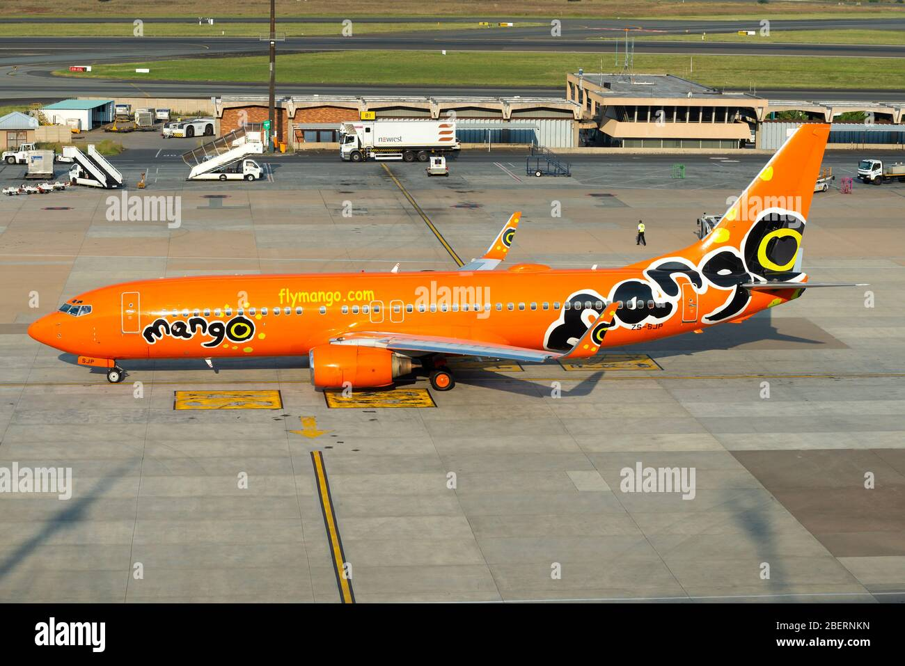 Mango Airlines Boeing 737 At O R Tambo Airport In Johannesburg South Africa Aircraft 737 800 Registered As Zs Sjp Airline From South Africa Stock Photo Alamy