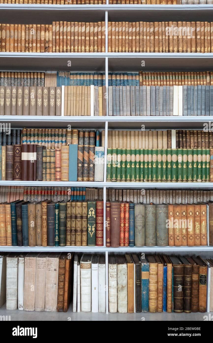 HISTORISCHE BÜCHER . BIBLIOTHEK / HISTORIC BOOKS . LIBRARY Stock Photo