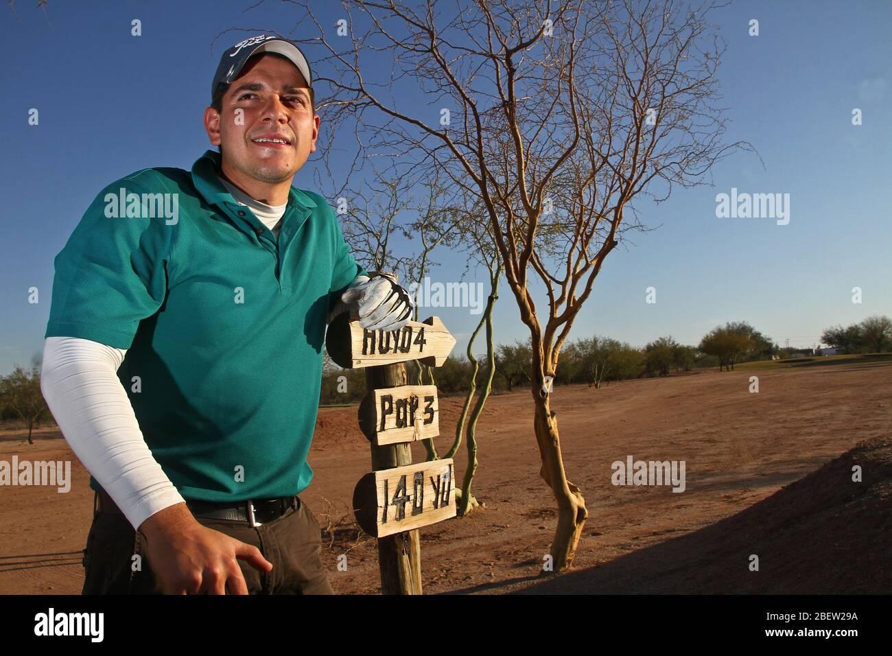 Club de Golf estilo desertico  en el real de Catorce (Foto:LuisGutierrez/NortePhoto.com) Stock Photo