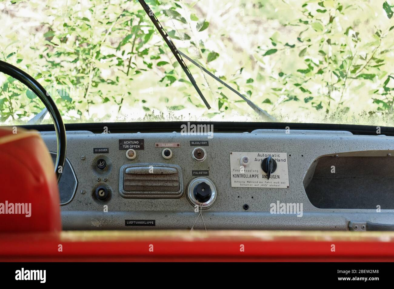 FEUERWEHRWAGEN . OPEL BLITZ . FIRE TRUCK Stock Photo
