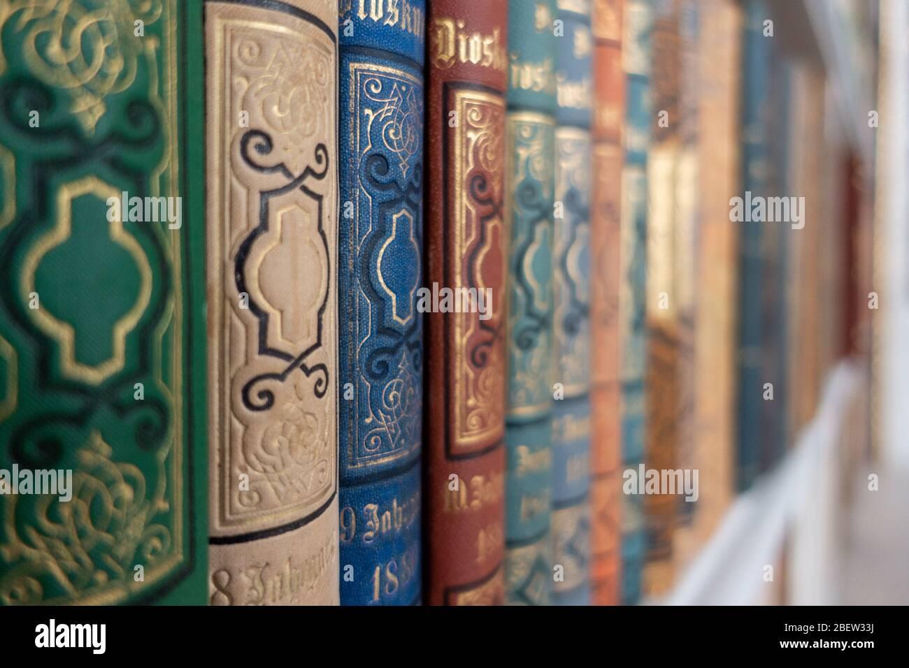 HISTORISCHE BÜCHER . HISTORIC BOOKS Stock Photo
