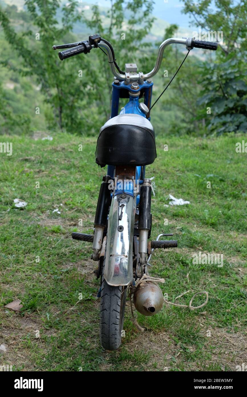 MOPED . MOTOR CYCLE Stock Photo