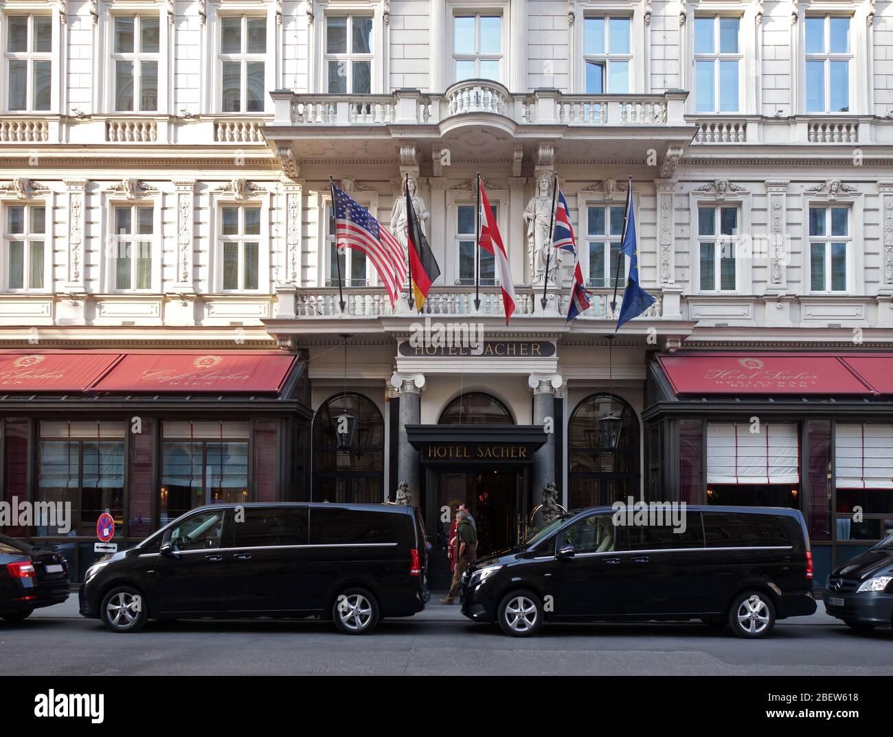 HOTEL SACHER . WIEN . VIENNA Stock Photo