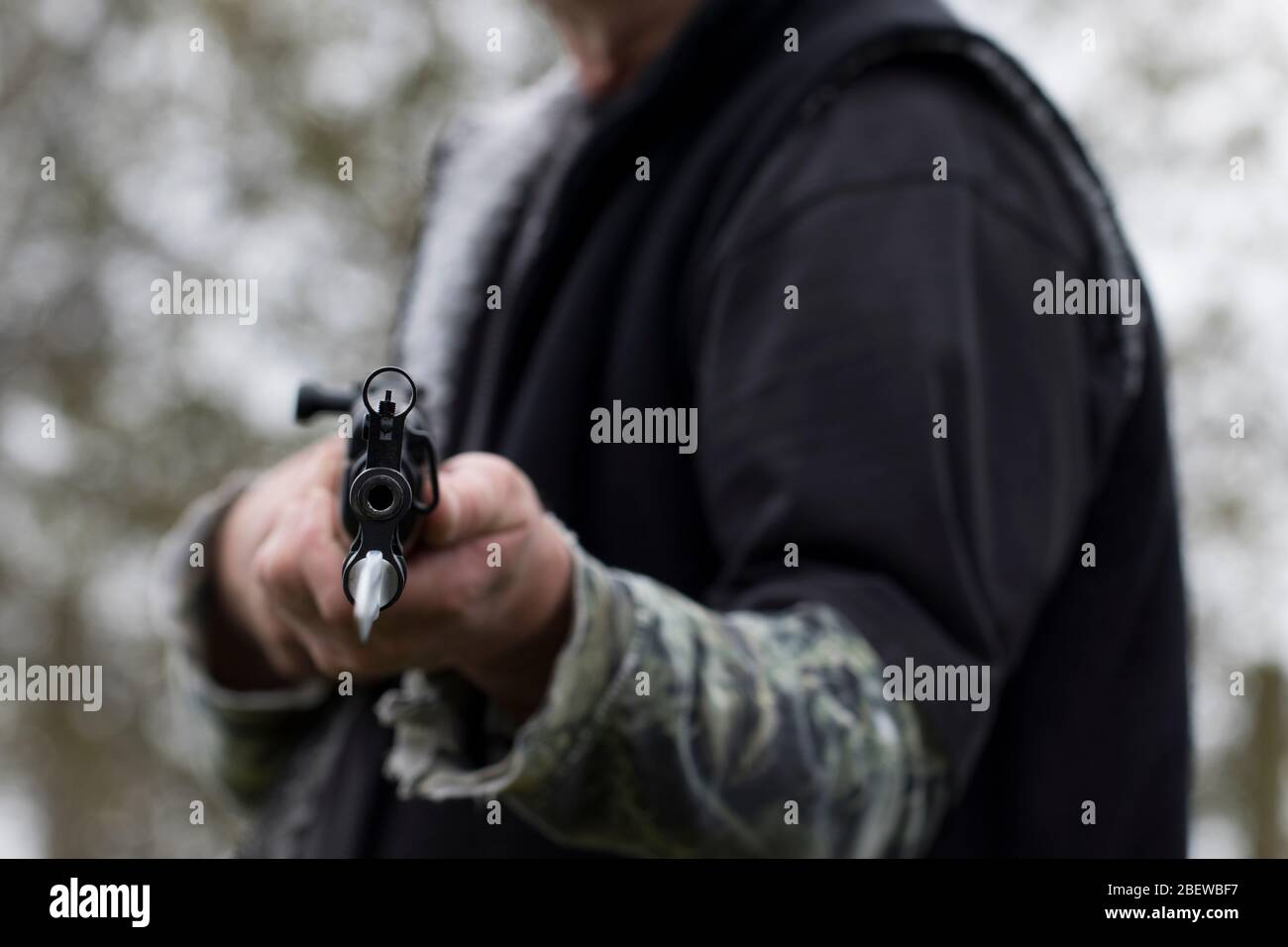 Down The Barrel Of A Gun High Resolution Stock Photography And Images Alamy