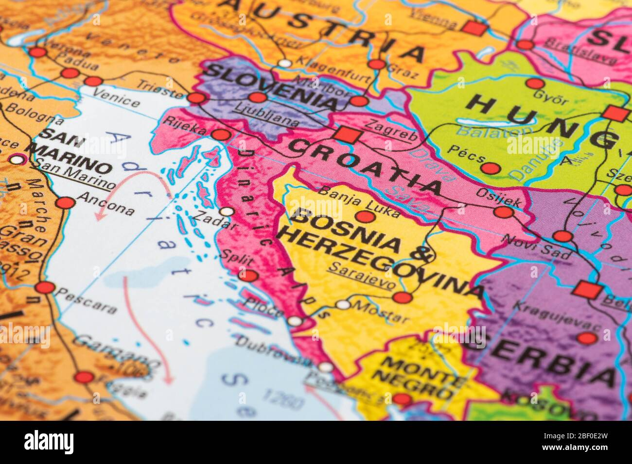 Picture of: Europe Map Of Croatia Stock Photo Alamy