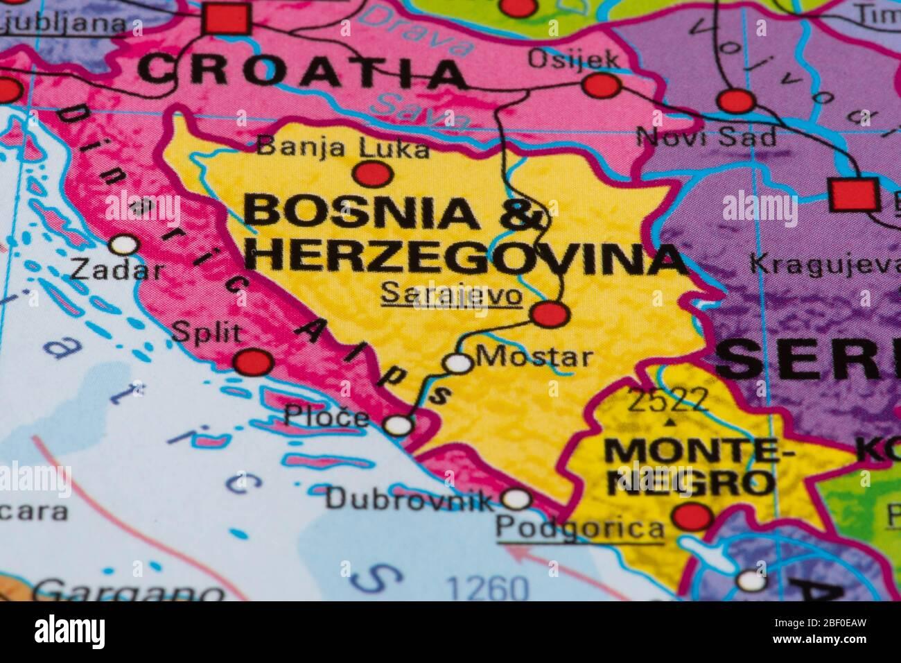 Image of: Europe Map Of Bosnia And Herzegovina Stock Photo Alamy