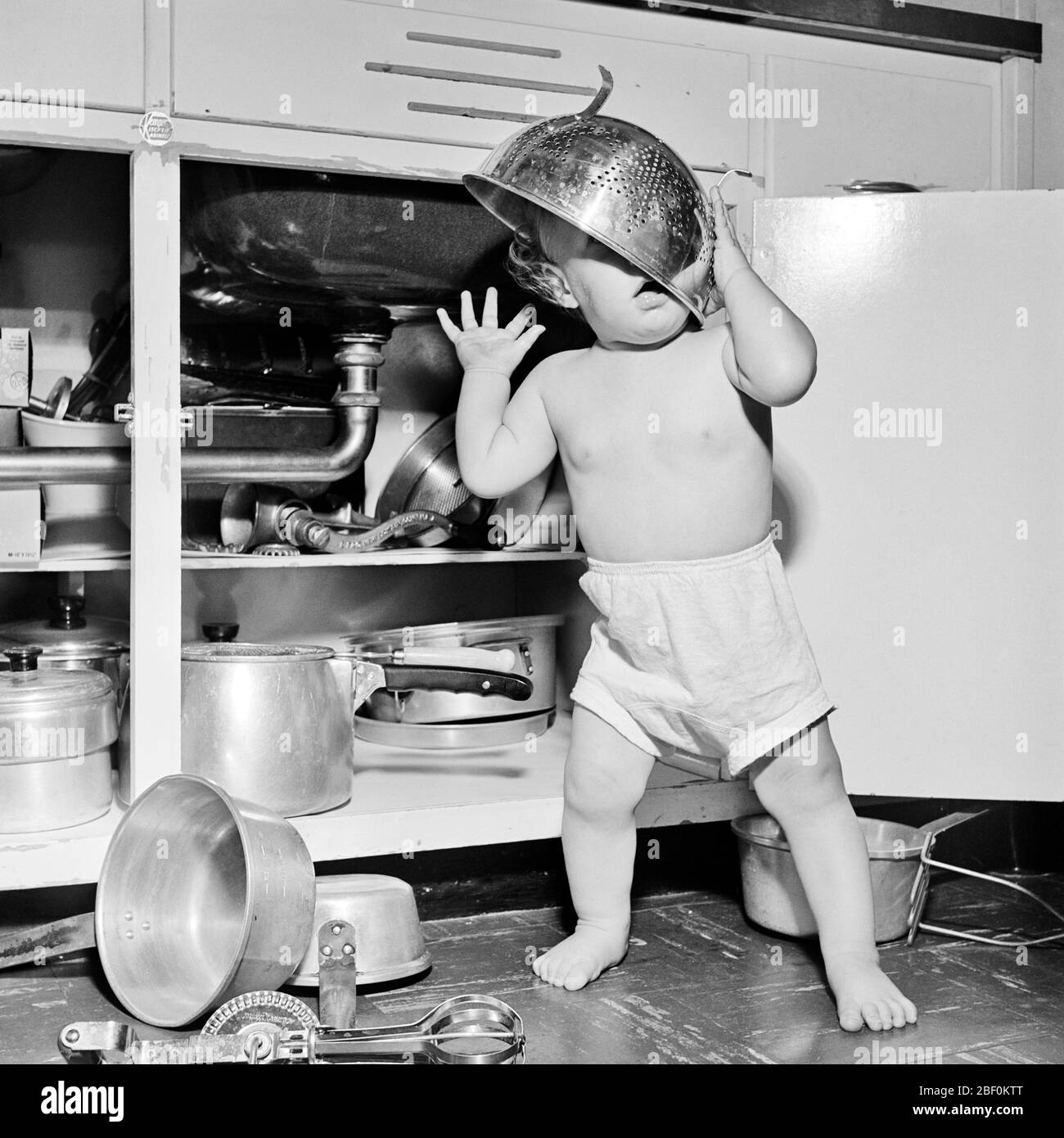 1950s Baby Black And White Stock Photos 1950s Baby Black And