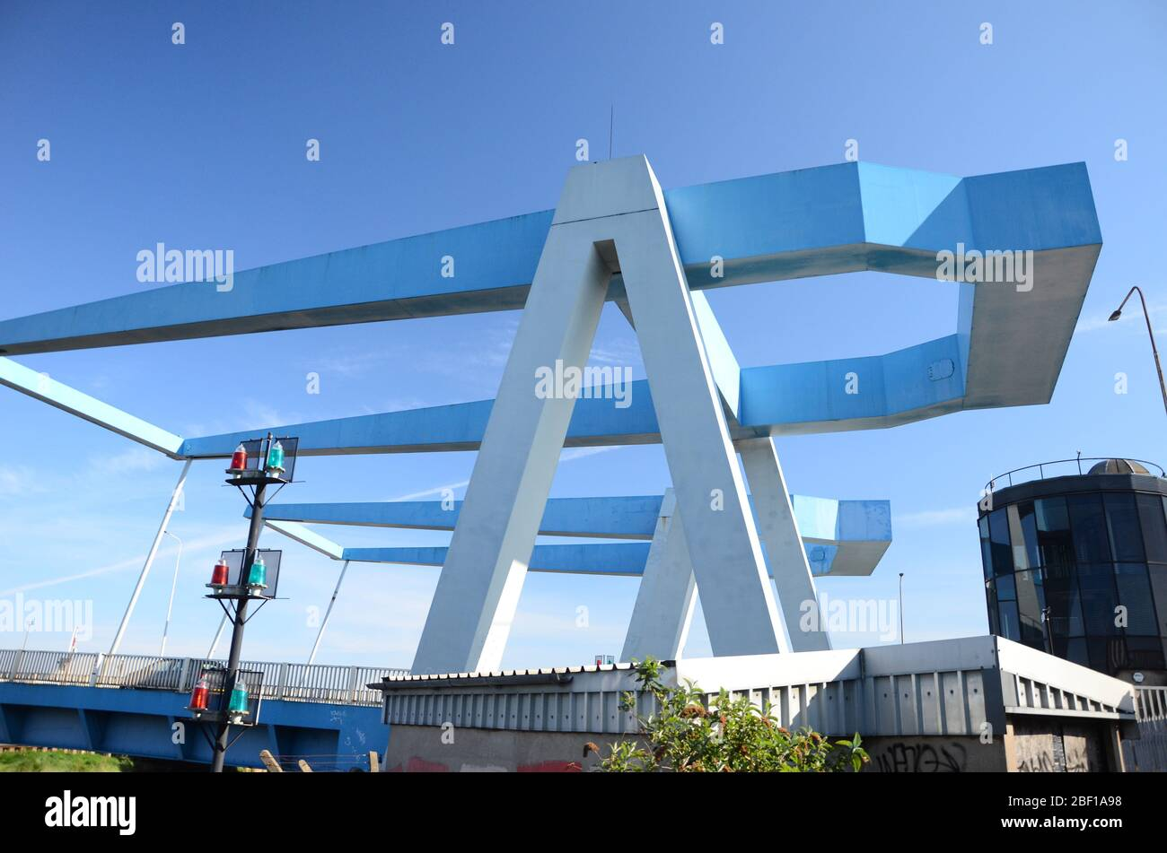 Clough road, Ferry Lane bridges over the river Hull, kingston upon Hull Stock Photo