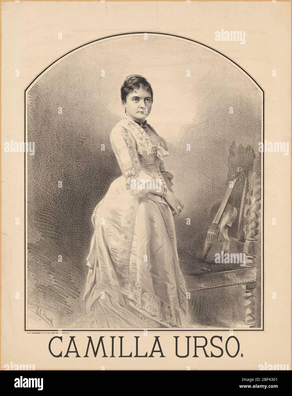 Camille Urso. Stock Photo