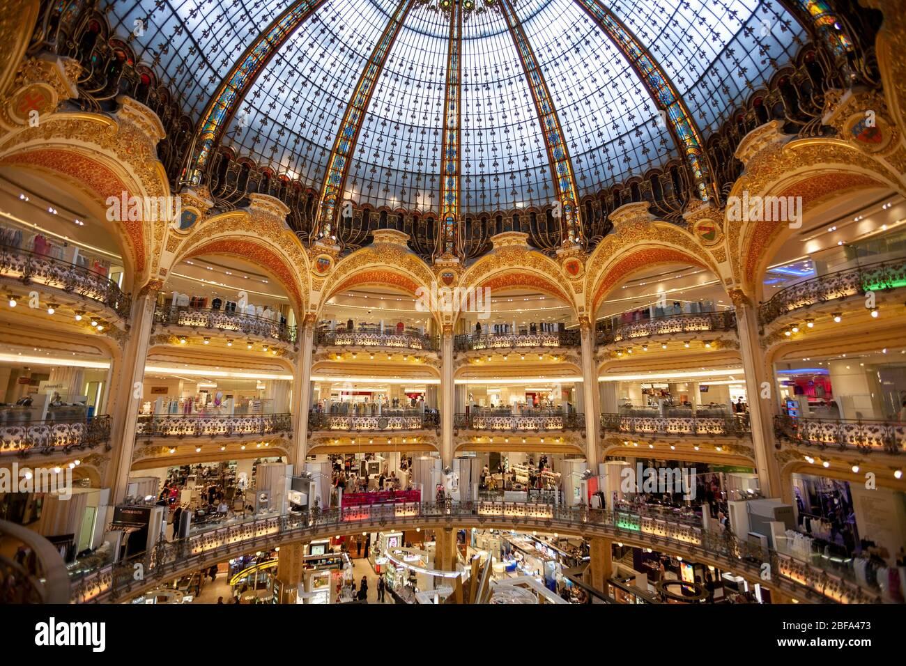 Galeries Lafayette, Paris, France Stock Photo