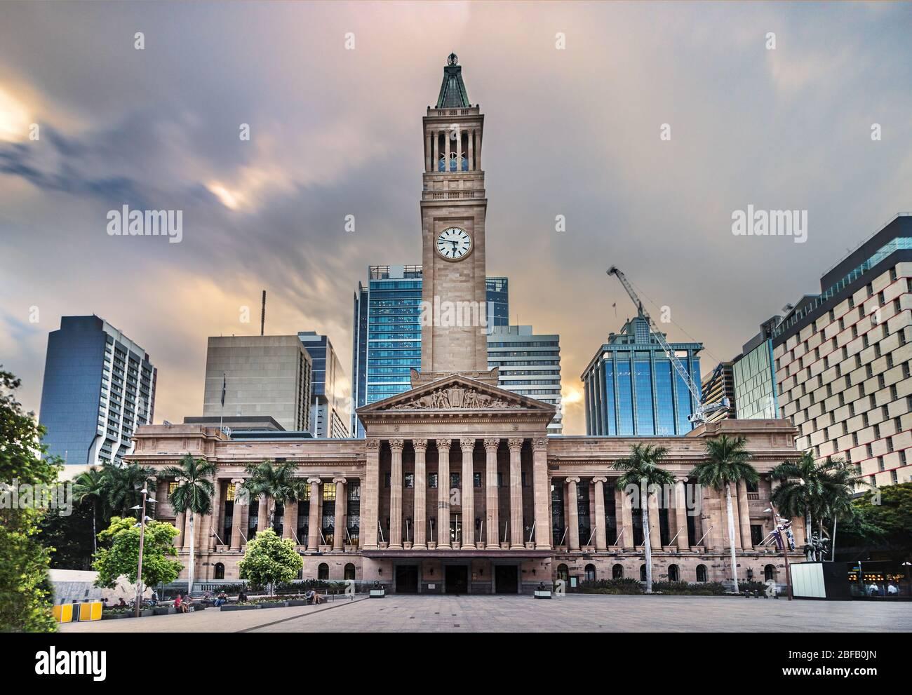 Brisbane City Council located adjacent to King George Square, Australia Stock Photo