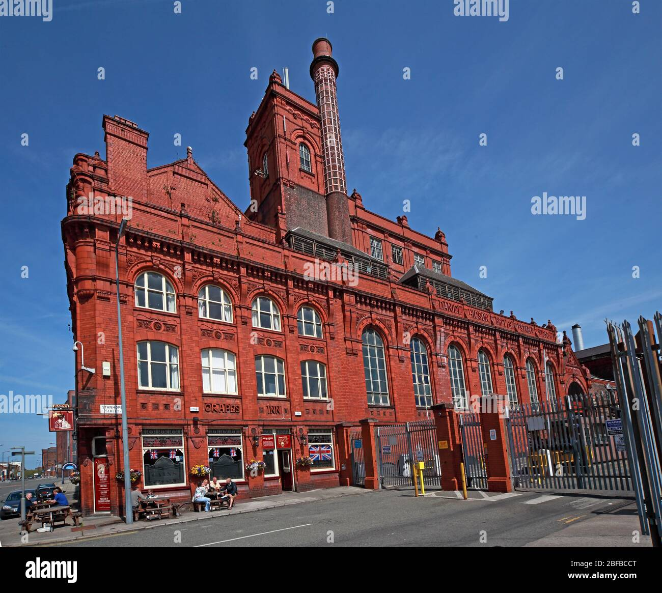 Cains Brewery Tap, Classic British Pub, 39 Stanhope St, Liverpool, Merseyside,England, UK, L8 5RE Stock Photo