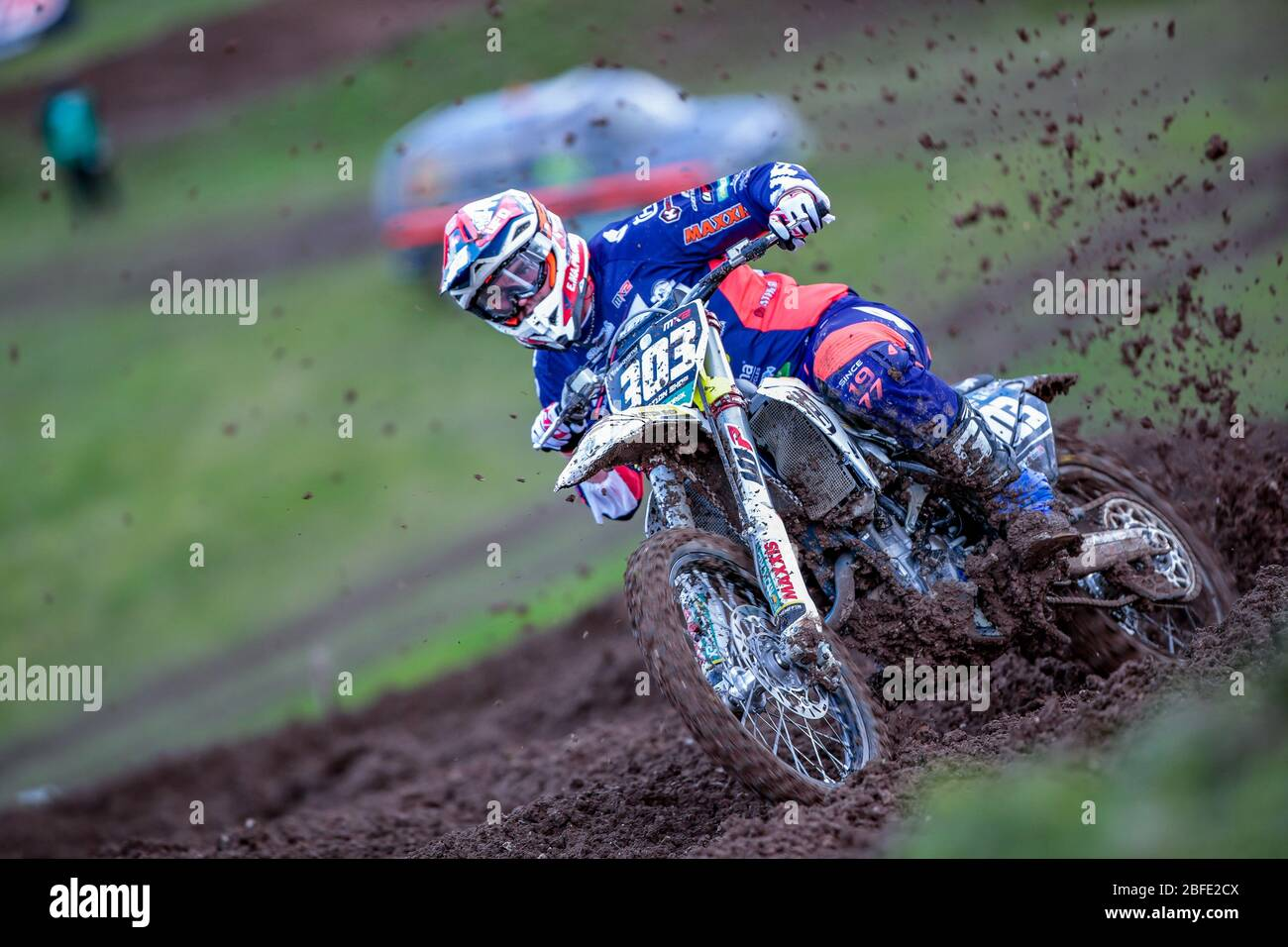 Winchester, Italy. 01st Mar, 2020. alberto forato team husqvarna junior maddii team during MXGP of Great Britain, Motocross in winchester, Italy, March 01 2020 Credit: Independent Photo Agency/Alamy Live News Stock Photo