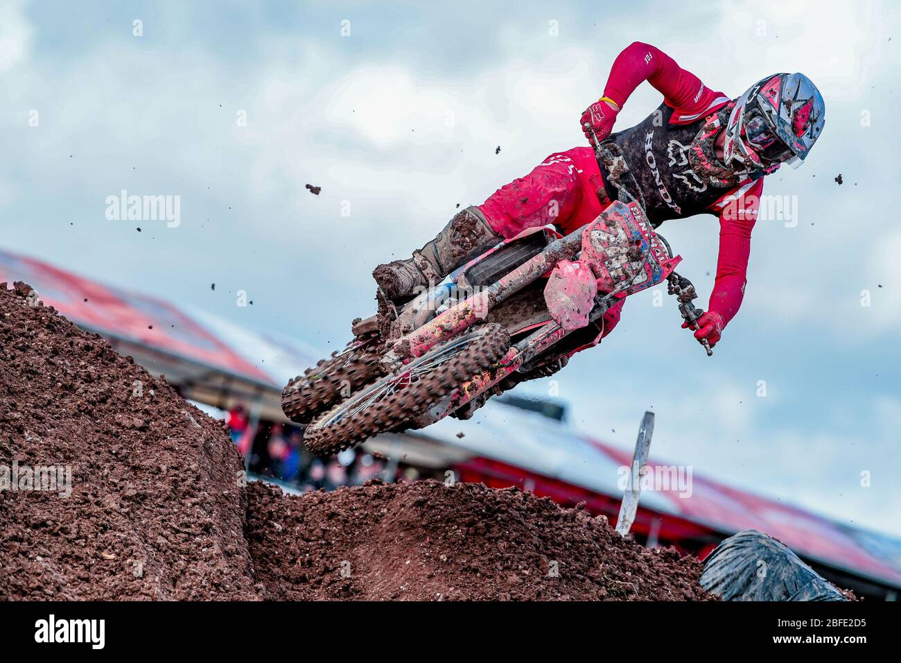 Winchester, Italy. 01st Mar, 2020. tim gajser (slo) team hrc classe mxgp during MXGP of Great Britain, Motocross in winchester, Italy, March 01 2020 Credit: Independent Photo Agency/Alamy Live News Stock Photo