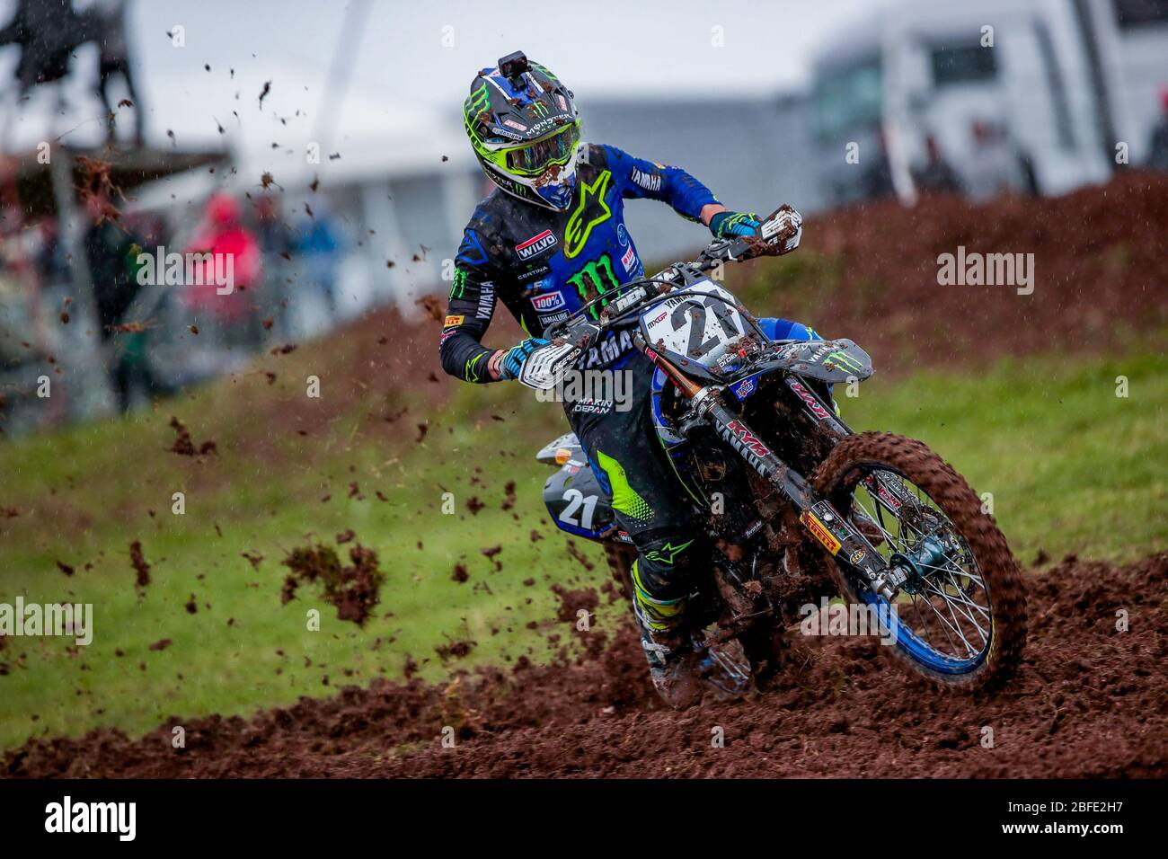 Winchester, Italy. 01st Mar, 2020. gautier paulin (fra) team yamaha factory during MXGP of Great Britain, Motocross in winchester, Italy, March 01 2020 Credit: Independent Photo Agency/Alamy Live News Stock Photo