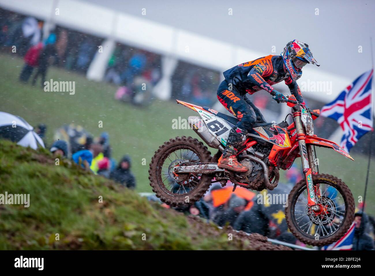 Winchester, Italy. 01st Mar, 2020. jorge prado (spa) ktm factory racing during MXGP of Great Britain, Motocross in winchester, Italy, March 01 2020 Credit: Independent Photo Agency/Alamy Live News Stock Photo
