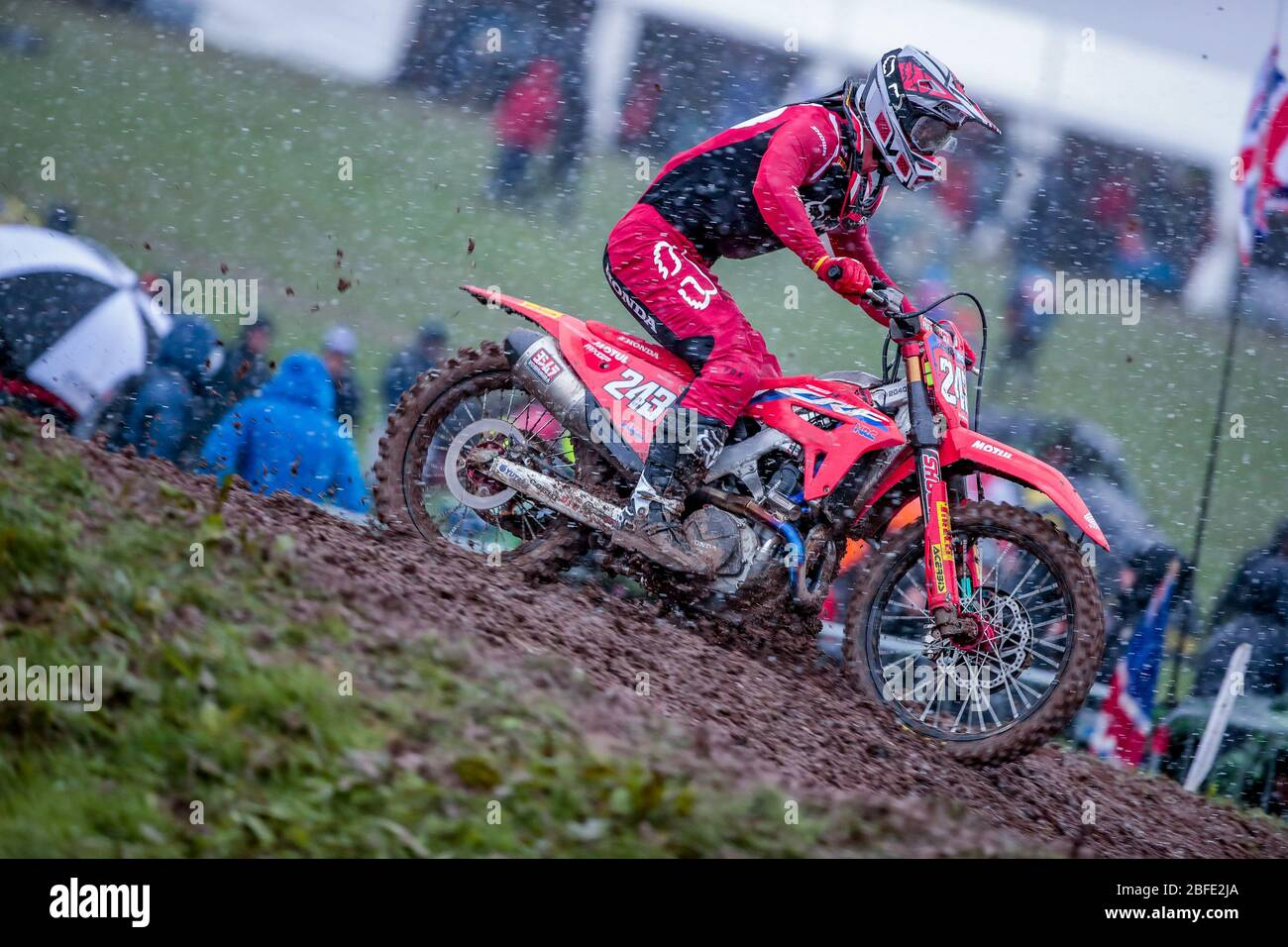 Winchester, Italy. 01st Mar, 2020. tim gajer (slo) team hrc during MXGP of Great Britain, Motocross in winchester, Italy, March 01 2020 Credit: Independent Photo Agency/Alamy Live News Stock Photo