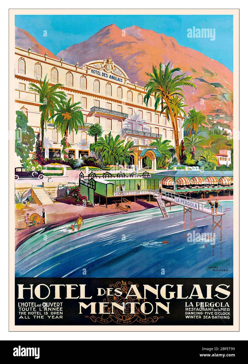 by Roger Broders Avignon France Vintage French Art Deco Travel Poster 1920