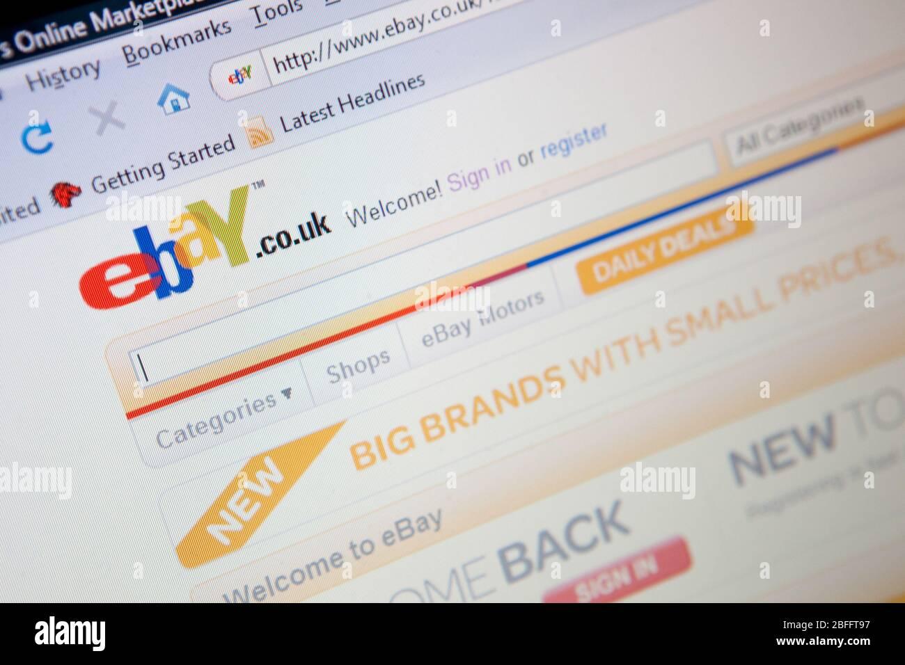 Illustrative Image Of The Ebay Website Stock Photo Alamy