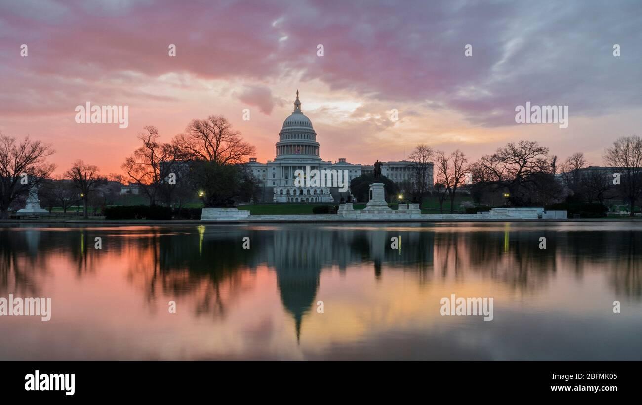 A Capital Sunrise Stock Photo
