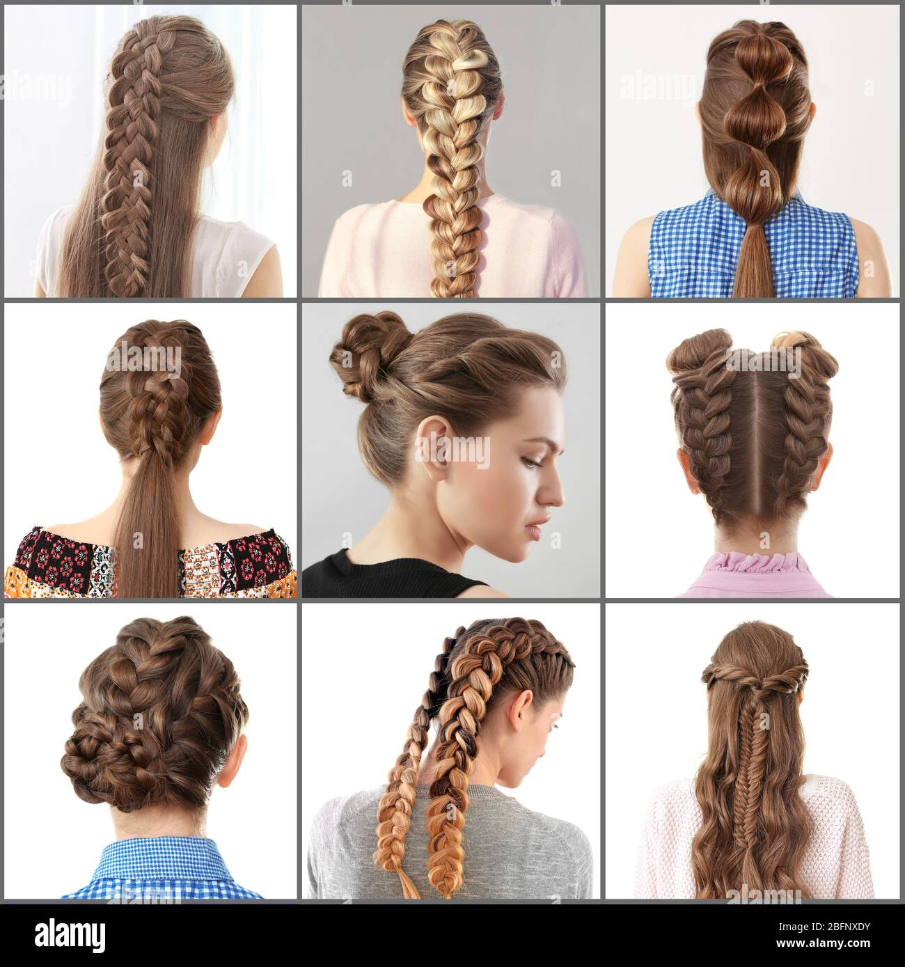 Women with different hairstyles Stock Photo   Alamy