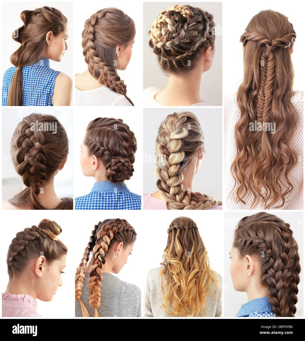 Women with different hairstyles Stock Photo - Alamy