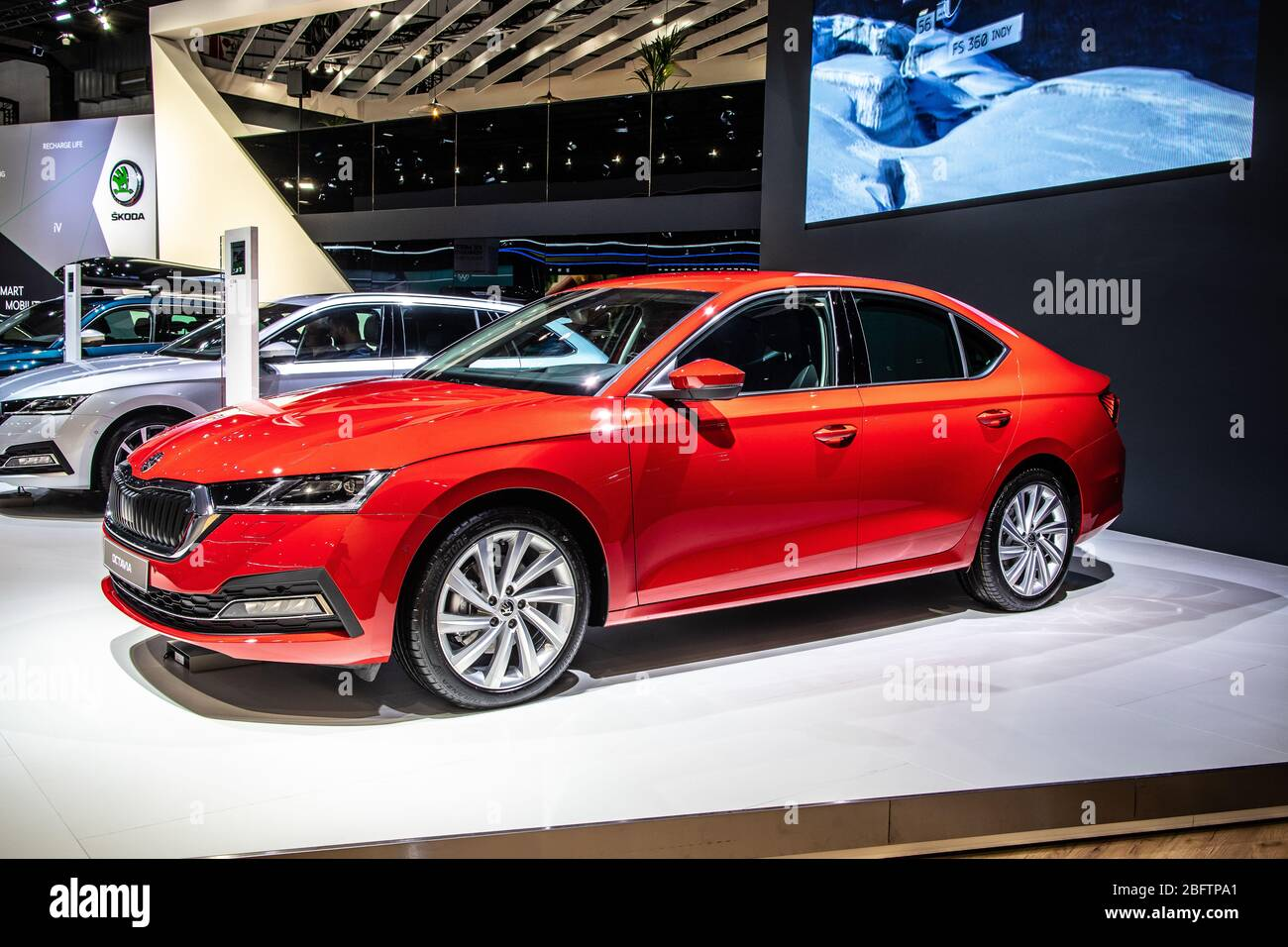 Brussels Belgium Jan 09 2020 All New Skoda Octavia Iv At Brussels Motor Show Fourth Generation Mk4 Car Produced By Skoda Auto Stock Photo Alamy