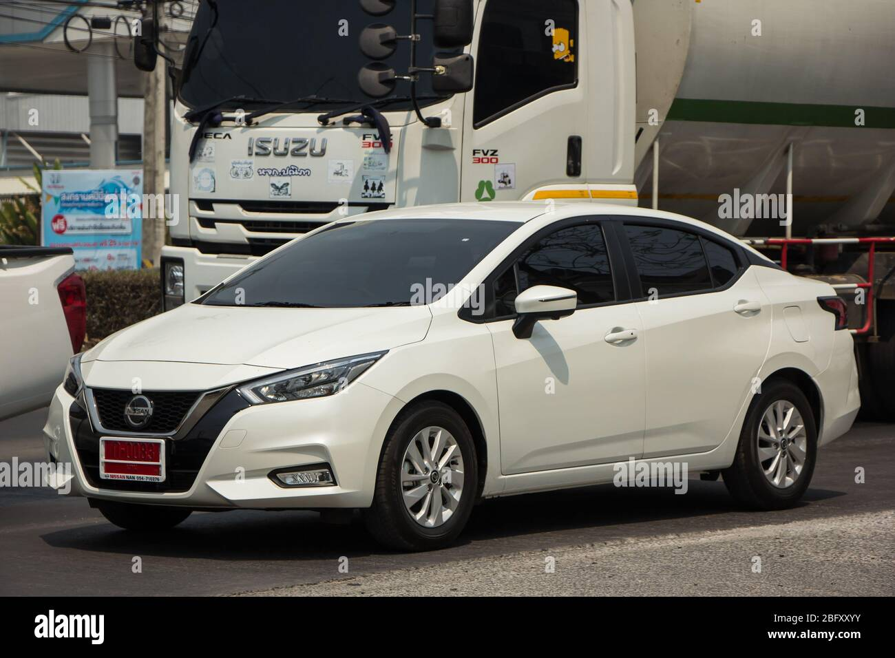 Chiangmai Thailand March 23 2020 Private Eco Car New Nissan Almera Photo At Road No 121 About 8 Km From Downtown Chiangmai Thailand Stock Photo Alamy
