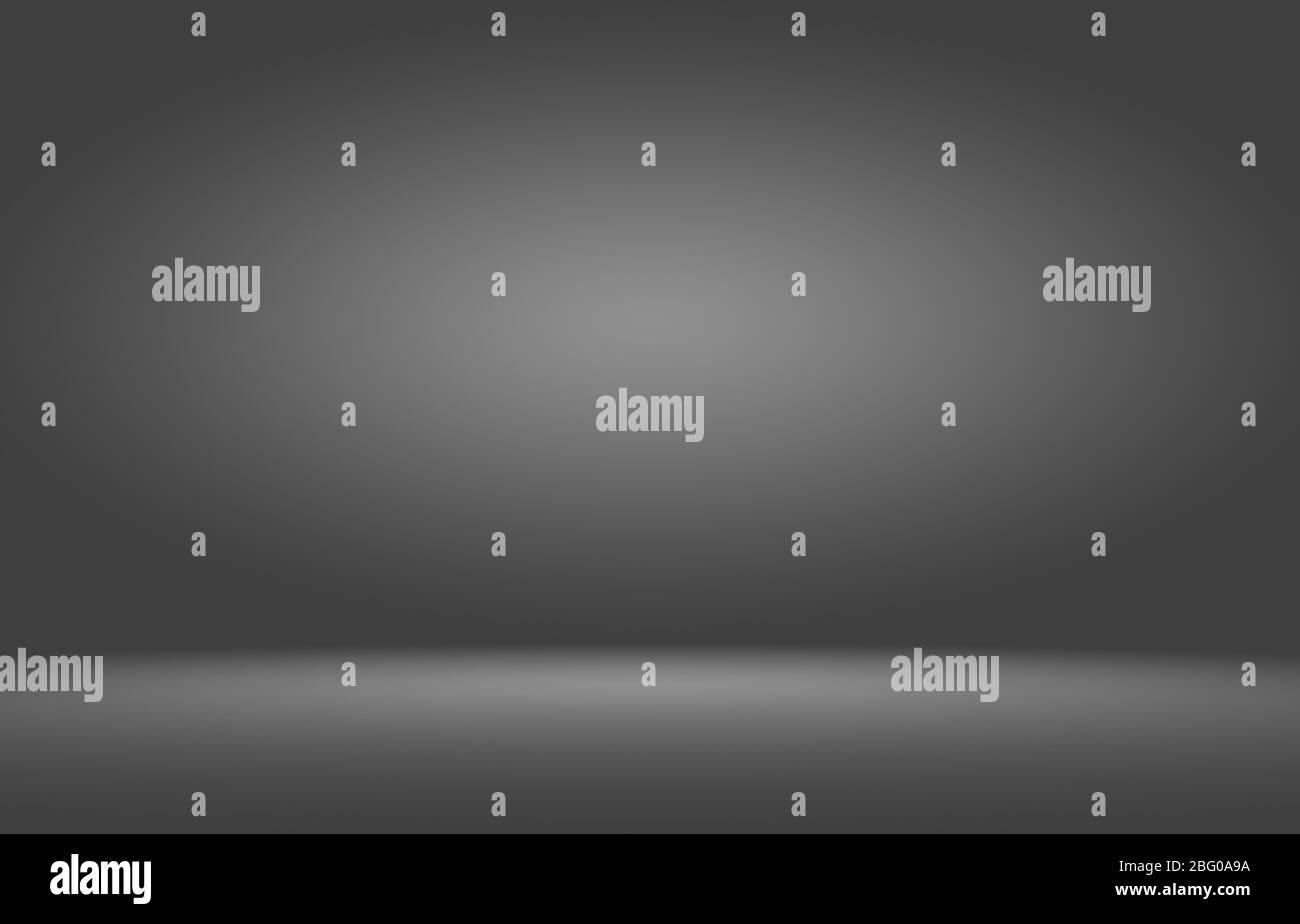 Product showcase spotlight on black gradient background. Stock Photo