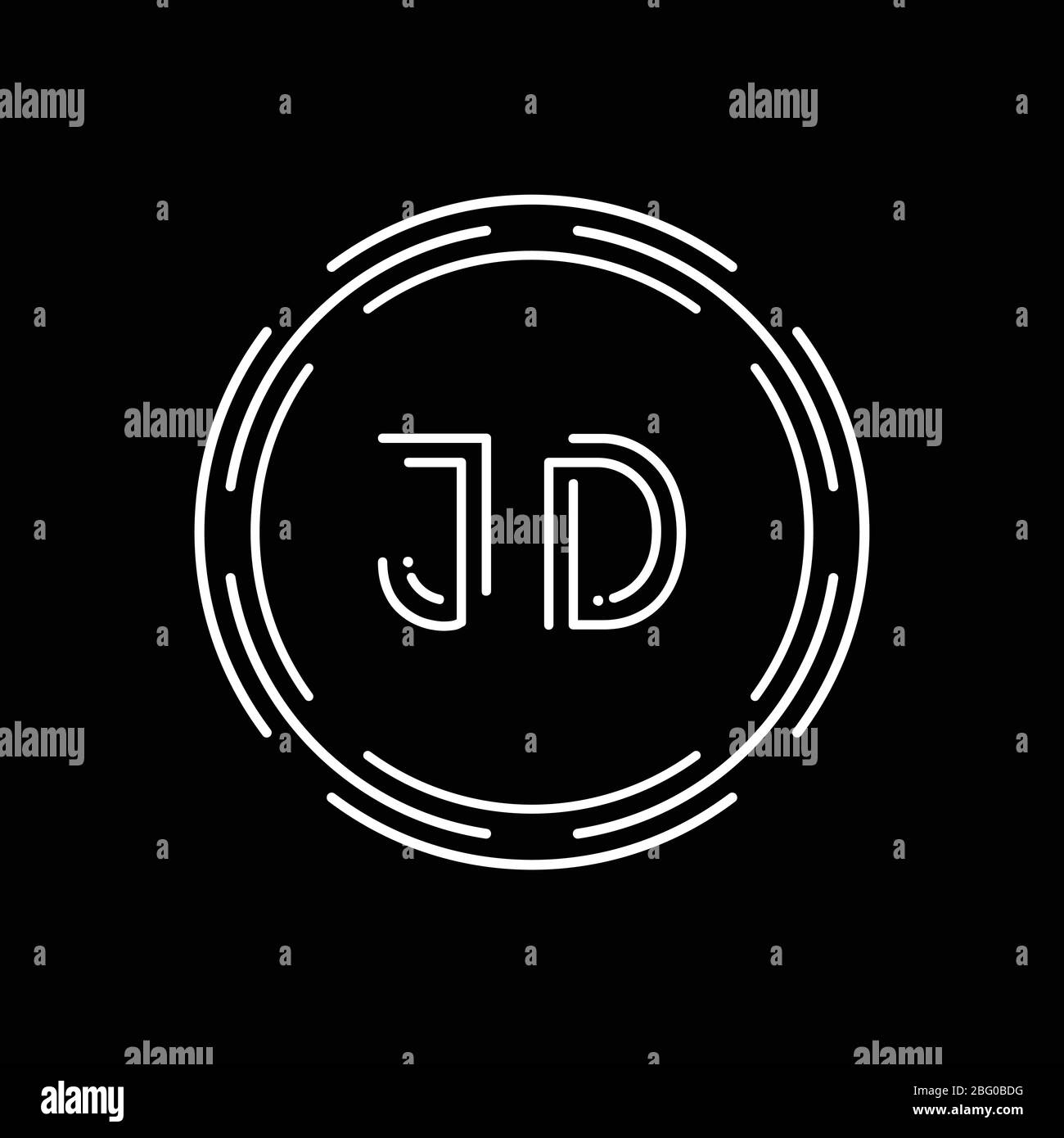 creative letter jd logo design vector template digital linked letter jd logo design stock vector image art alamy alamy