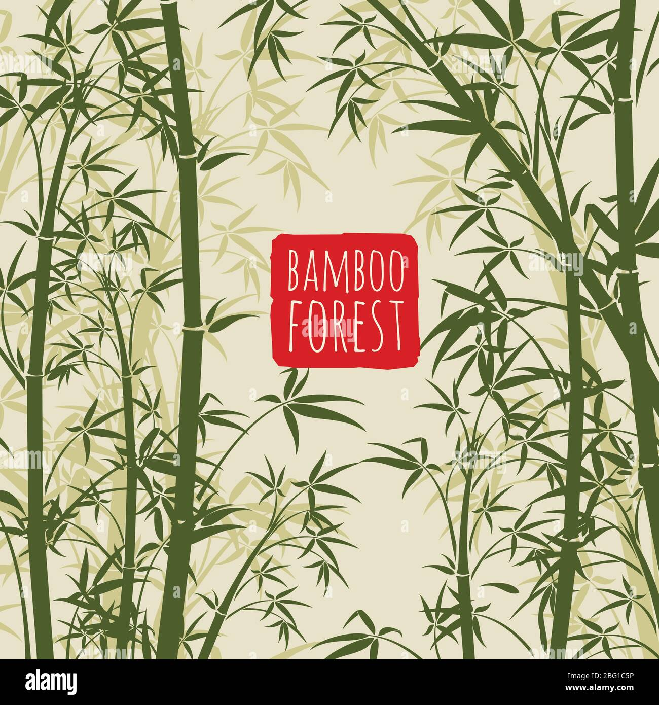 Chinese Bamboo Forest Stock Vector Images Alamy