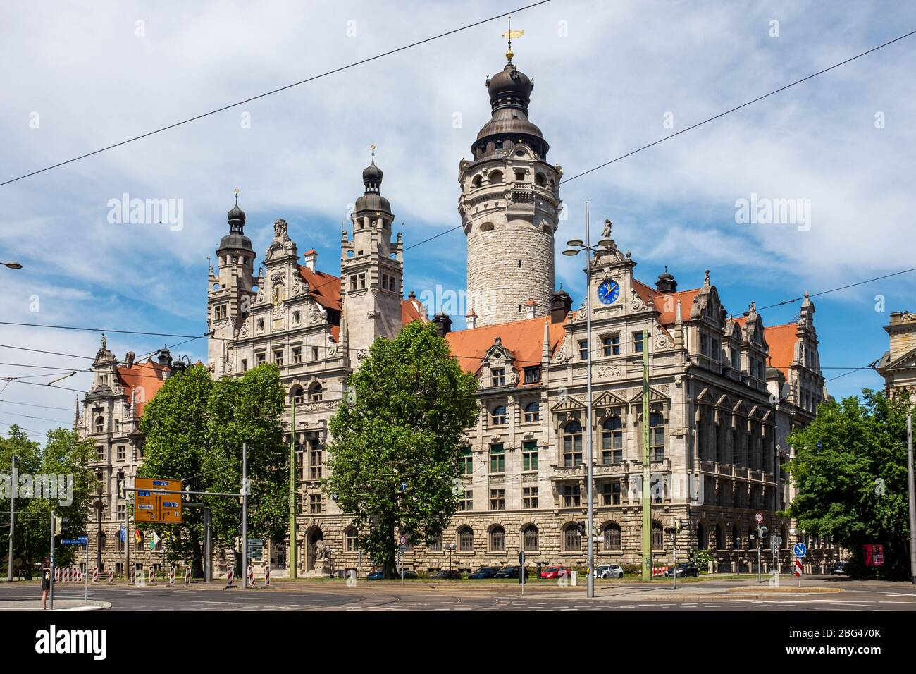 Leipzig New Town Hall Centre Of Administration For The City Of Leipzig Germany Stock Photo Alamy