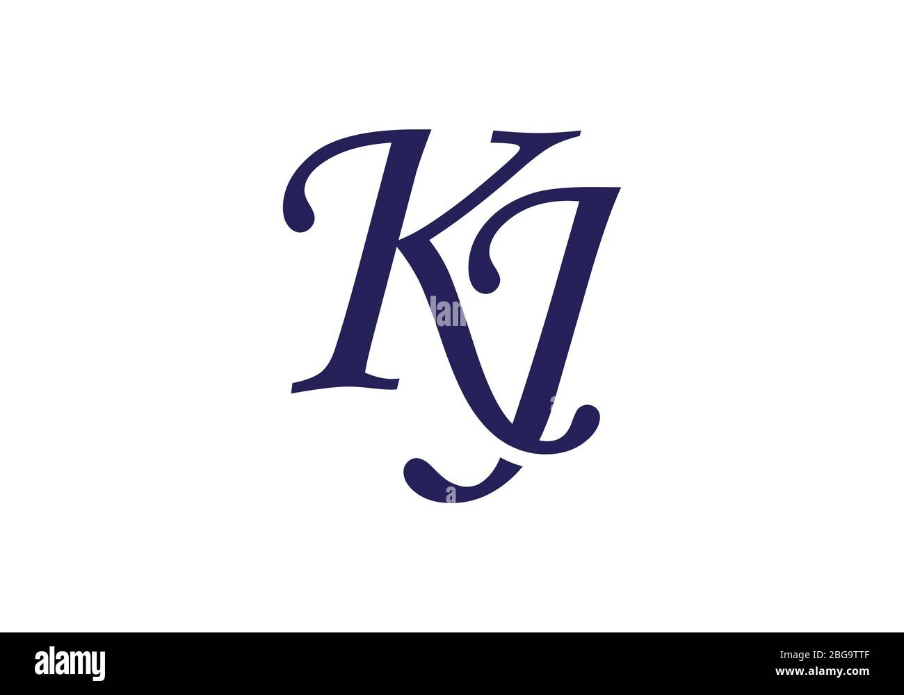Initial Monogram Letter K J Logo Design Vector Template Kj Letter Logo Design Stock Vector Image Art Alamy