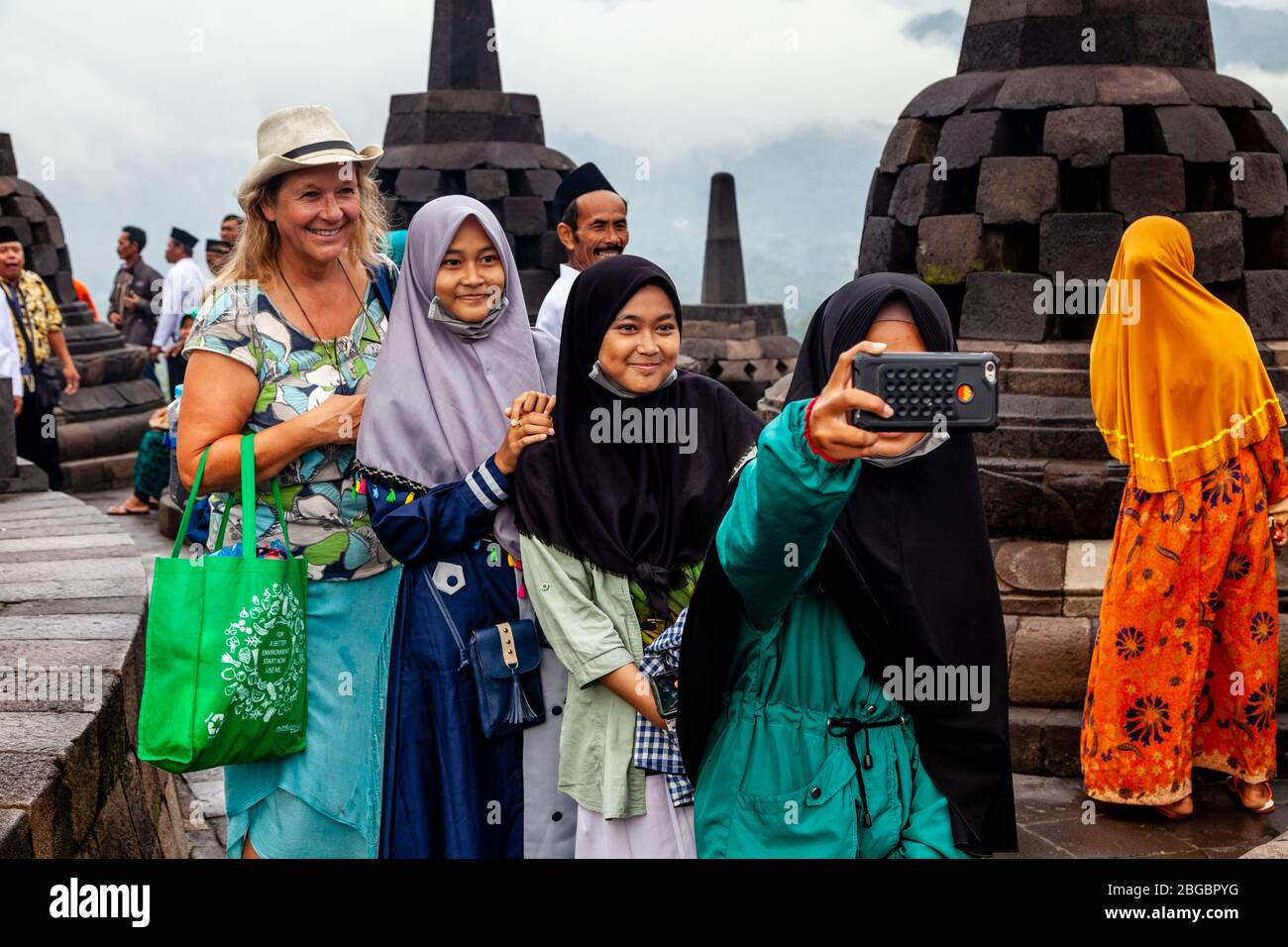 Girls Muslim Indonesia Indonesian Stock Photos Girls Muslim