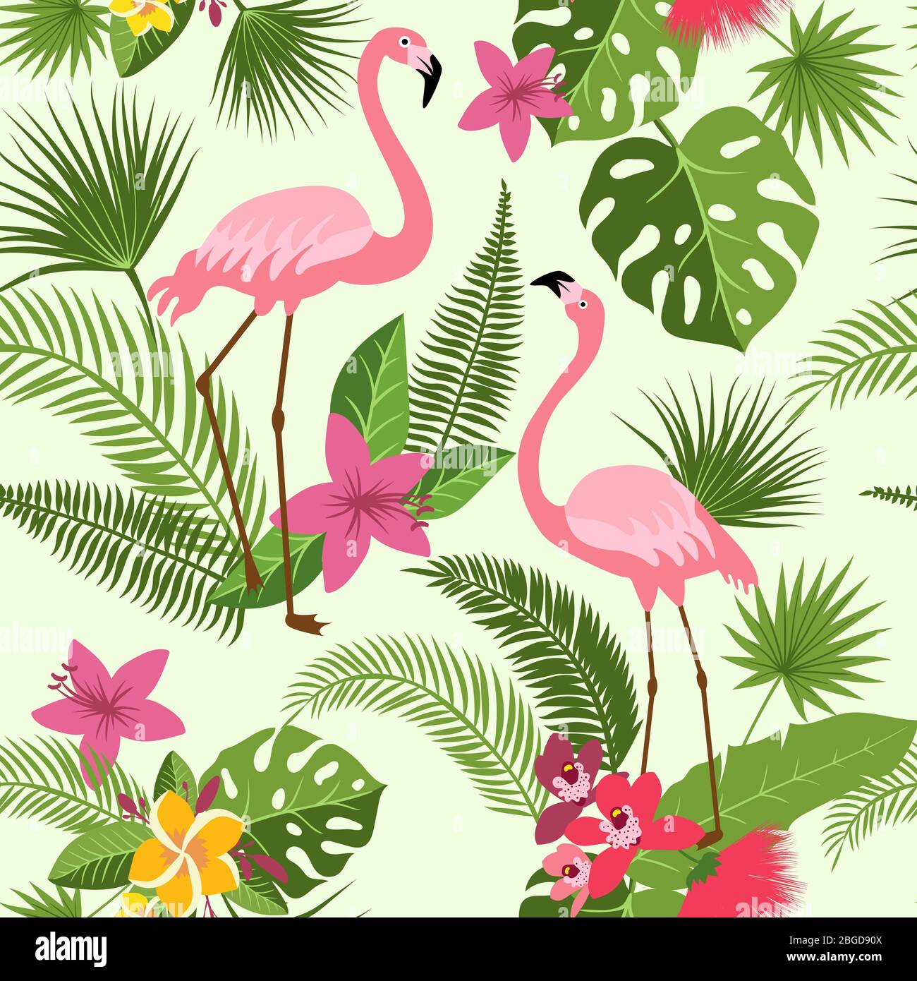 Vector Seamless Pattern With Flamingo Tropical Flowers And Palm Tree Summer Hawaiian Background Stock Vector Image Art Alamy Popular background hawaiian of good quality and at affordable prices you can buy on looking for something more? https www alamy com vector seamless pattern with flamingo tropical flowers and palm tree summer hawaiian background image354334314 html