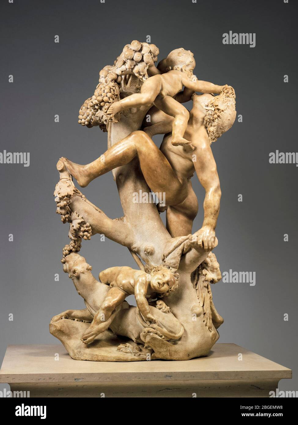 Bacchanal: A Faun Teased by Children, marble sculpture by Gian Lorenzo Bernini, circa 1616-1617 Stock Photo