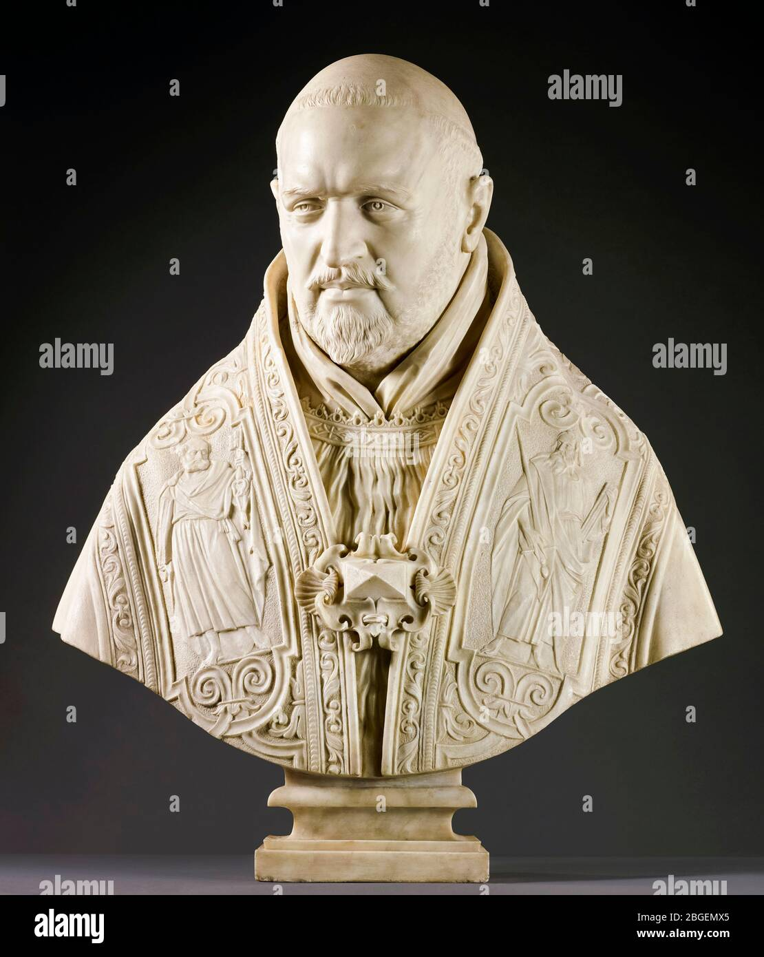 Pope Paul V, bust, marble sculpture by Gian Lorenzo Bernini, 1621 Stock Photo