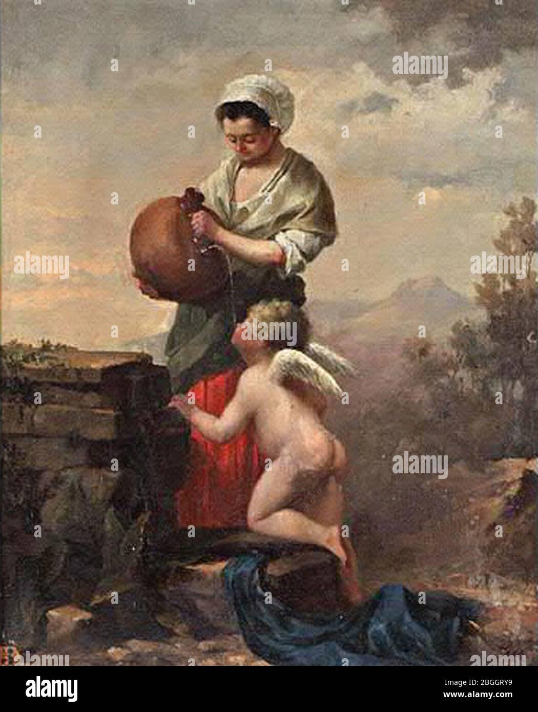 Hiacynt Alchimowicz La fontaine d'Amour 1876. Stock Photo