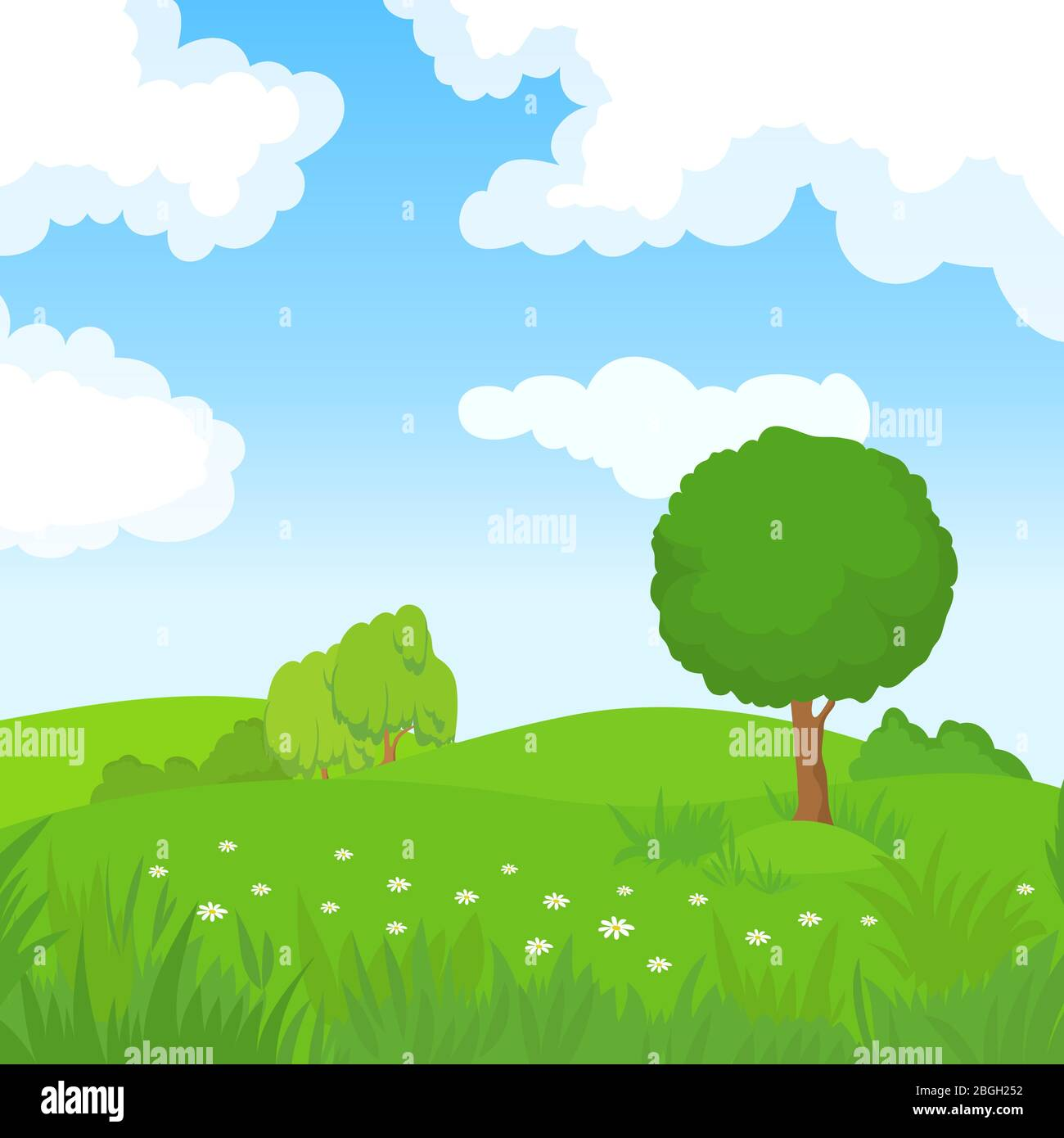 Cartoon Summer Landscape With Green Trees And White Clouds In Blue Sky Forest Park Panoramic Vector Background Summer Green Park Nature Landscape Field Grass Illustration Stock Vector Image Art Alamy Download tree cartoon stock vectors. https www alamy com cartoon summer landscape with green trees and white clouds in blue sky forest park panoramic vector background summer green park nature landscape field grass illustration image354416750 html