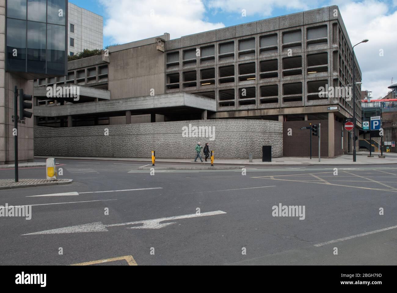 1960s Brutalist Architecture Reinforced Concrete Brutalism Minories Car Park 1 Shorter Street, Tower, London E1 8LP Stock Photo