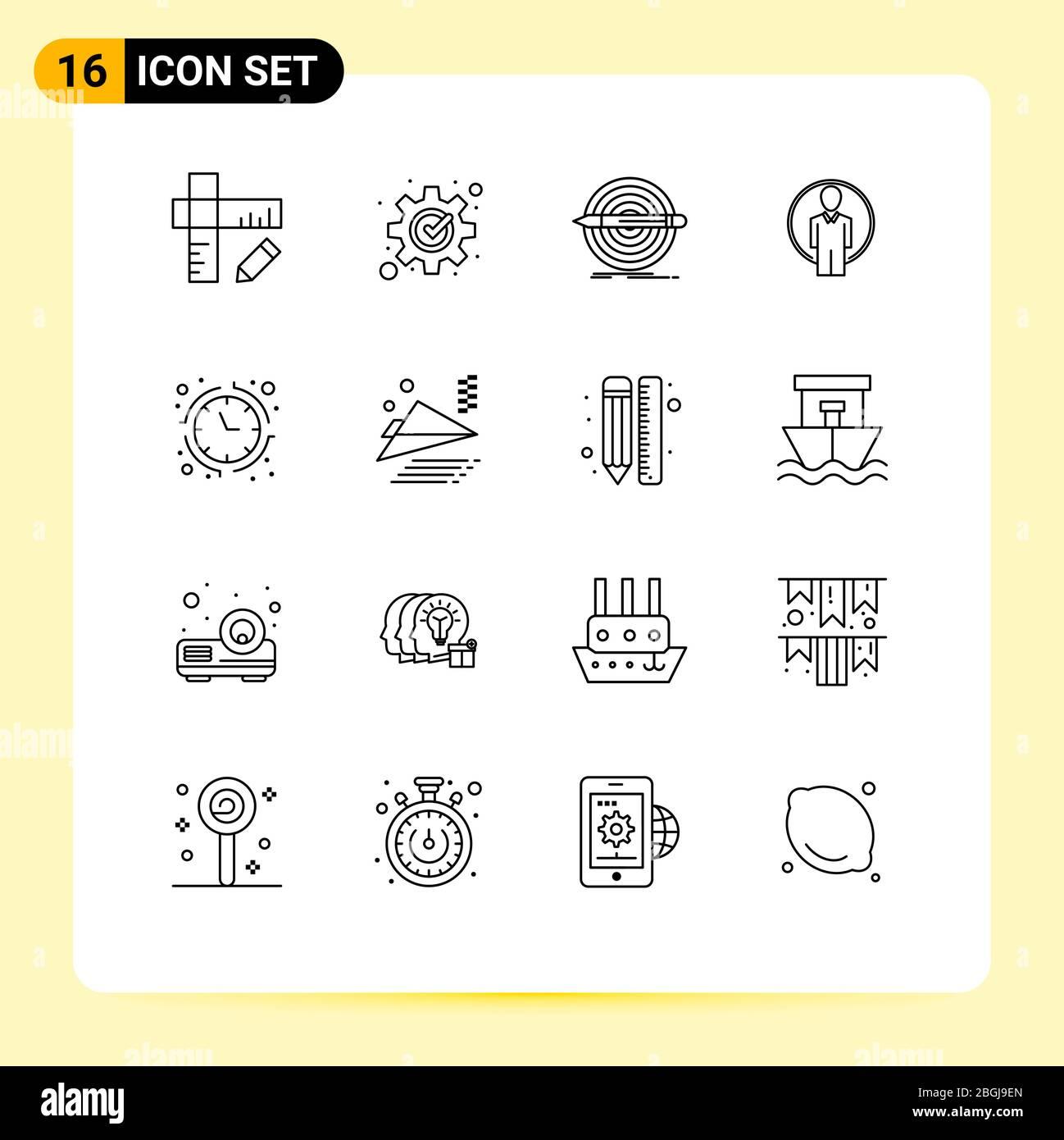 User Interface Pack Of 16 Basic Outlines Of Economy Image Goal Login User Editable Vector Design Elements Stock Vector Image Art Alamy