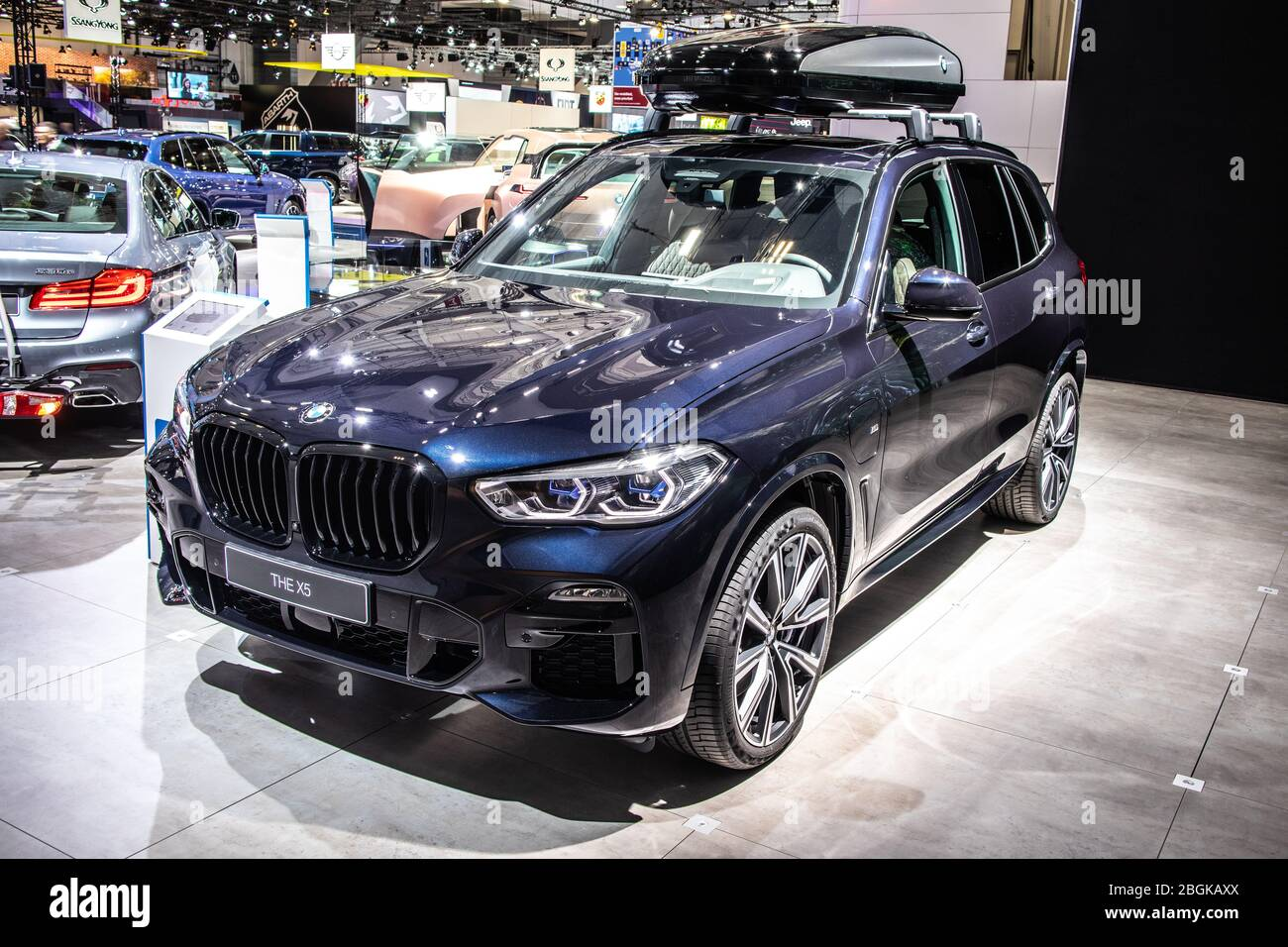 Brussels Belgium Jan 2020 Bmw X5 45e With Synchronous Electric Motor Brussels Motor Show 4th Gen G05 Suv Manufactured And Marketed By Bmw Stock Photo Alamy