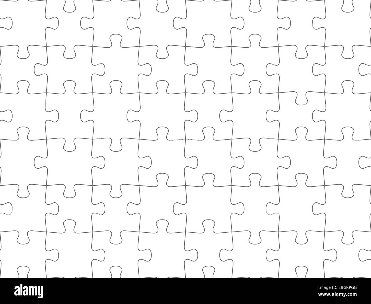Seamless piece puzzle presentation jigsaw background pattern. EPS 10 Stock Vector