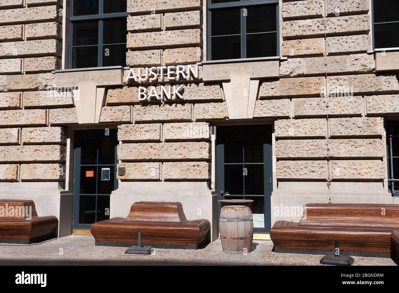 Austernbank Seafood Restaurant in Berlin Stock Photo